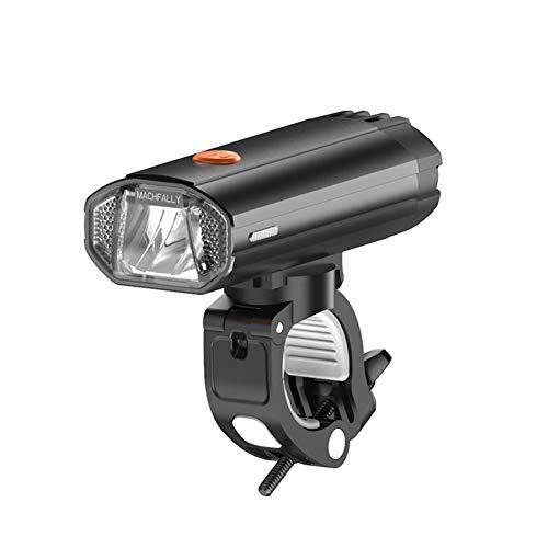 GJF Fahrradbeleuchtung, wiederaufladbare USB-Mountainbike-Scheinwerfer, mit 4000-mAh-Akku für Mobile Stromversorgung, 360 ° -Drehung, Betäubungsschutz, 600 Lumen-Black
