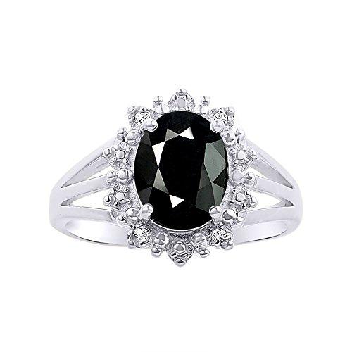 Juego de anillos de plata de ley 925 con diseño de Halo Princesa Diana