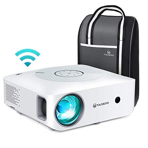 WiFi Beamer 7500 Lux, Native 1080p Beamer Full HD 4K, VANKYO Leisure 530W Beamer Heimkino, mit 5D ±50° Elektronische Korrektur, Support HDMI TV Stick Xbox Laptop, iOS/Android Smartphone Projektor