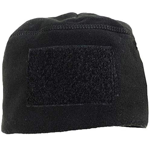 Rothco Men's Polar Fleece Tactical Watch Cap Beanie w/ Hook Loop Patch Area Black