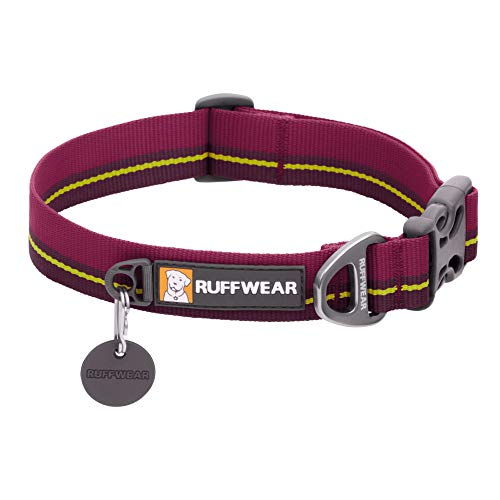 Ruffwear Flat Out Collar, Klassisches Hundehalsband für Mittelgroße Hunderassen, Einstellbare Passform, Größe M (36-51 cm), Wildflower Horizon