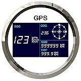 Eling Boat Car Digitaler GPS Tachometer Geschwindigkeitsmesser Kilometerzähler Kurs mit GPS Antenne 3-3/8Zoll (85mm) 9-32V
