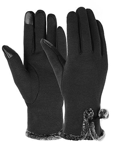 Winter Gloves for Women with Touch Screen Gloves Warm Texting Mittens