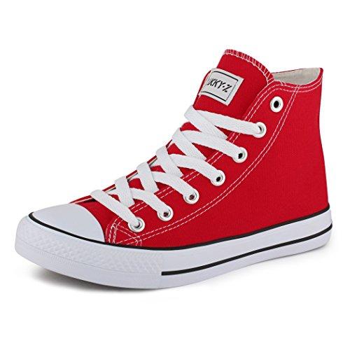 best-boots Damen High-Top Sneaker Schnürer ROT 806 Größe 42