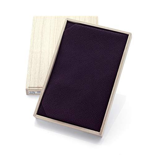 定番 台付 ふくさ 袱紗 正絹 ちりめん 包み方説明書付き 木箱入り 紫