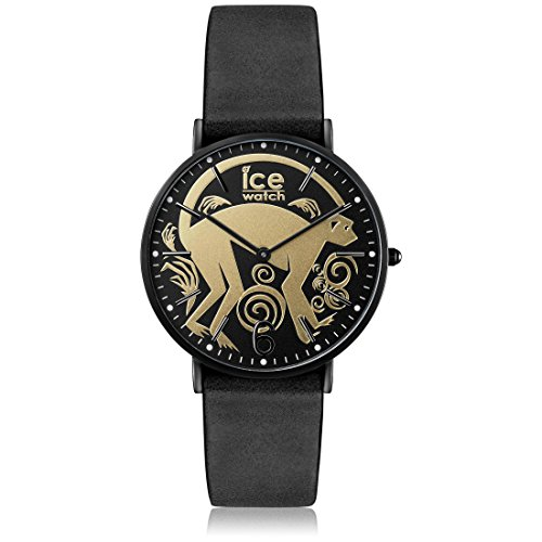 Ice-Watch - ICE chinese Black Gold - Women's wristwatch with leather strap - 001469 (Small)
