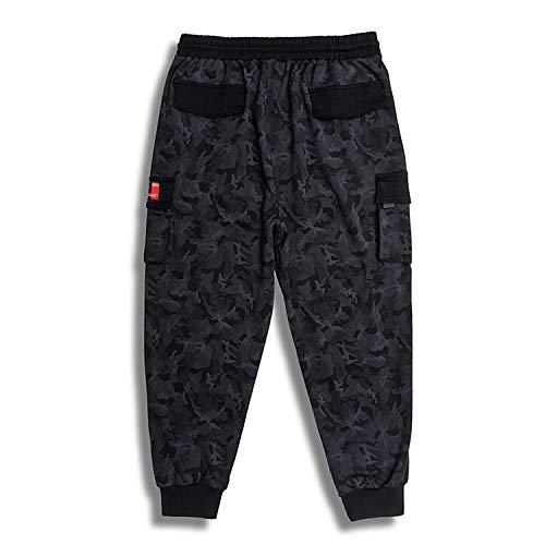 nobranded Pantalones de Hombre Pantalones de chándal de Camuflaje Deporte Cordón Informal Cintura elástica Slim Fit Pantalones Ligeros y de Secado rápido