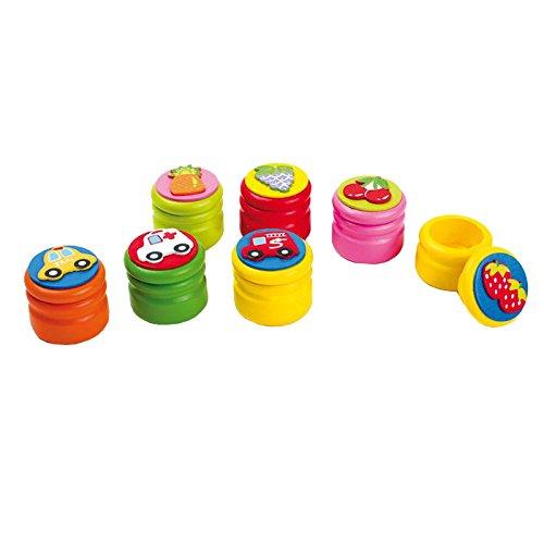 Small Foot Company (Smb5V) - 5856 - Loisirs Créatifs - Boîtes À Dents De Lait - Fruits Et Voitures