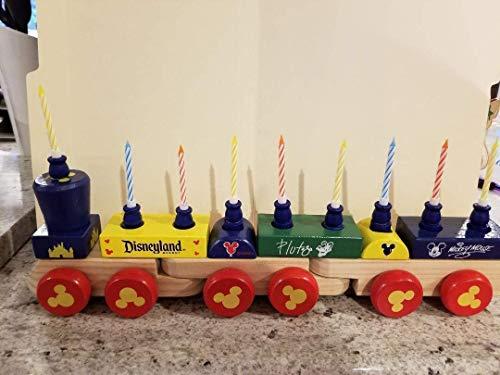 Upcycled Disney Train Hanukkah Menorah - Blue