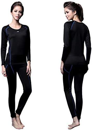 FITEXTREME Womens MAXHEAT Fleece Lined Performance Long Johns Thermal Underwear