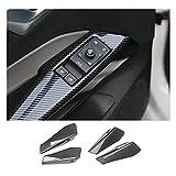 [4 Stück] CDEFG V W ID3 ID.3 2020 2021 Auto Interieur Tür Kohlefaser Aufkleber Lift Schalter Sticker Dekor Interieurleisten Zubehör