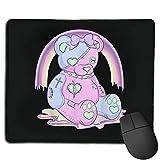 Pastel Goth Teddy Bear Japanese Anime Kawaii Menhera Alfombrilla de ratón Antideslizante para Juegos, computadora de Escritorio