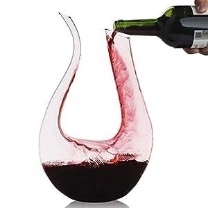 Wine Decanter,Smaier 1.5L U Shape Classic Wine Aerator , Wine...
