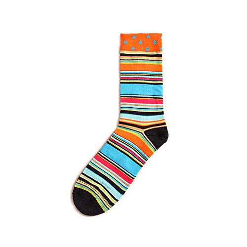 Unbekannt Générique Bedruckte Socken, Mens, Baumwolle, bunt, mit Muster & Streifen, Grau