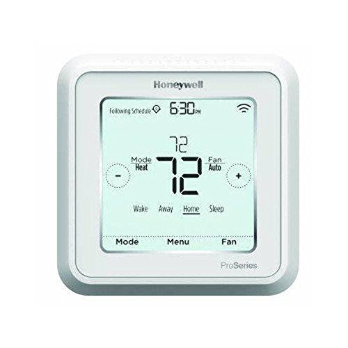 Honeywell TH6320WF2003/U Lyric T6 Thermostat, 3 Heat / 2 Cool Heat Pump Or 2 Heat / 2 Cool Conventional, 4.09' x 4.09' x 1.06'