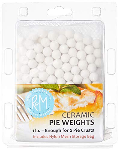 R&M International Ceramic Pie Weights, 1 lb. with Mesh Storage Bag
