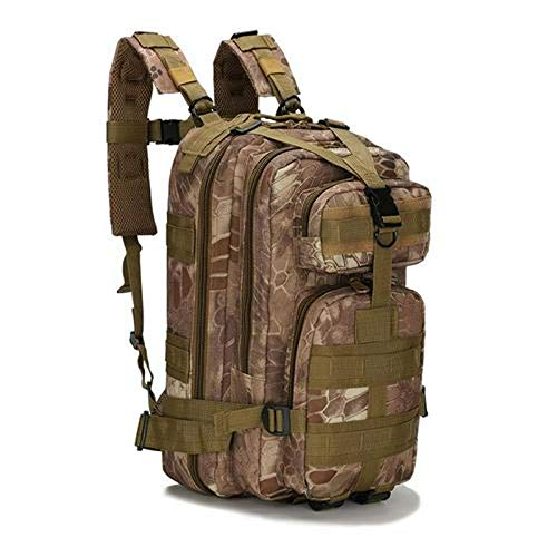 DFSDG Mochila de Campamento del ejército Militar 25L de los Hombres del Bolso del Recorrido táctico Moore Mochila de Senderismo Bolsa de Deportes al Aire Libre De Freitas