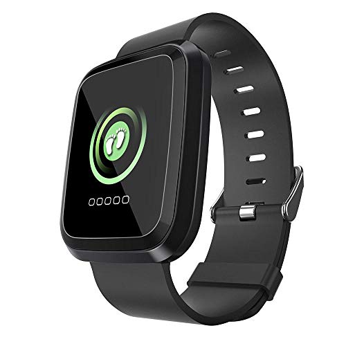 Volwco Fitness Tracker Waterproof, Touch Screen IP68 Smart Watch L18 Bluetooth HR Fitness Tracker Watch with Heart Rate Monitor, Pedometer, Call & Message Reminder for iPhone, Android Phones