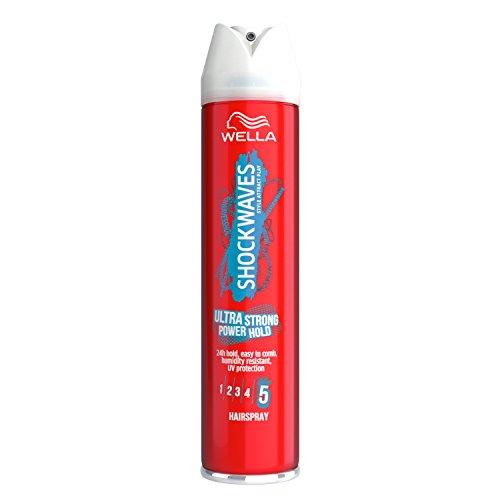 WELLA Shockwaves Ultra Strong Power Hold Hairspray, 250 ml