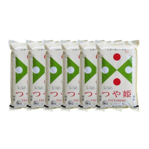 新米 令和元年産 つや姫 30kg 白米 (5kg×6袋) 山形県産 特別栽培米 送料無料