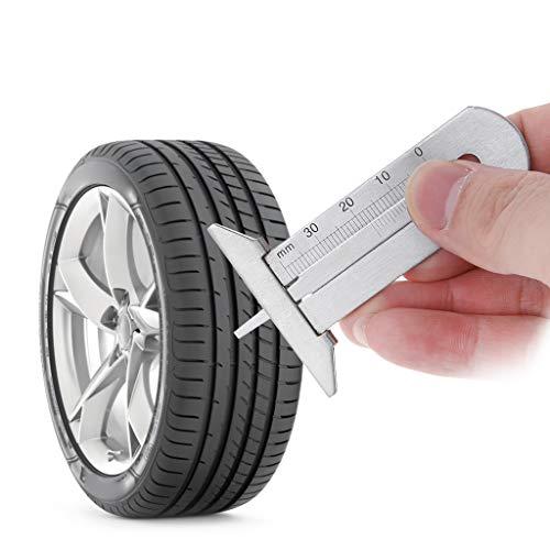 Mmnas Edelstahl Auto Reifen Profiltiefenmesser 0-30mm Satteltiefenmessgerät