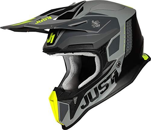 Just 1 Helmets J18 Pulsar Fluo Yellow-Grey-Black M