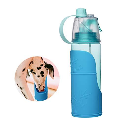 Locisne BPA Libre 600 ml Botella de Agua Suministros de riego para Mascotas para Perros y Gatos con tazón de Silicona extraíble, Agua en Aerosol Caminar, Deportes, Senderismo, Camping