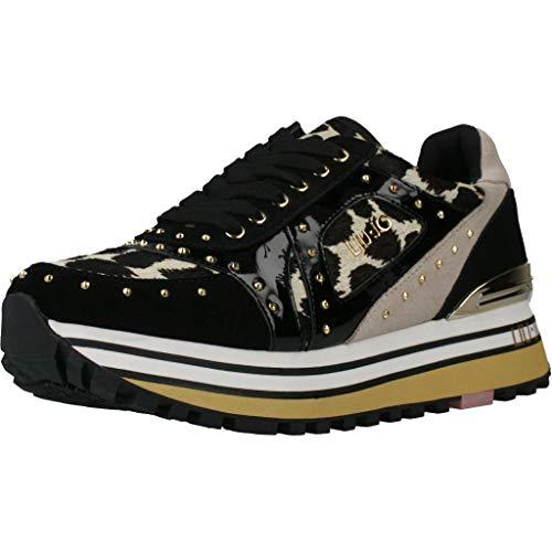 Liu Jo LJWMX, Zapatillas para Mujer, Beige Leopard, 38 EU