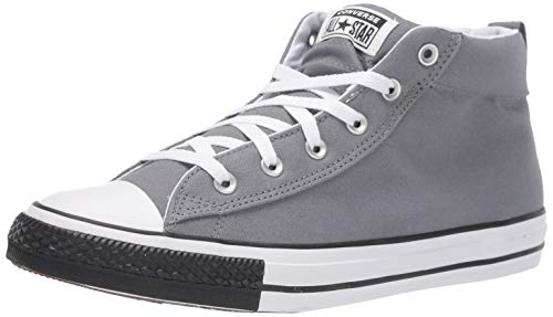 Converse Chuck Taylor All Star Street Mid Top Sneaker, Cool Grey/White/Black, 5 M US