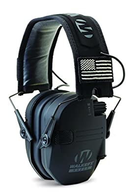 Walkers GWP-RSEMPAT Razor Slim Electronic Muff - Black Patriot