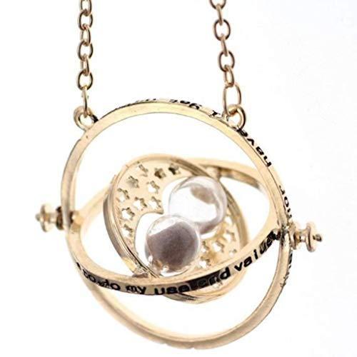 PIERRETOILES Halskette Sanduhr Zeitumkehrer Kette Hermione in der Zaubererschule (Gold)