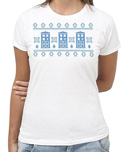 New Indastria T-Shirt Doctor Who Stile Maglione di Natale -Divertente Idea Regalo - by Donna-S-Bianca