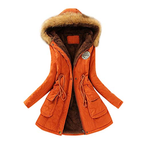 YinGTral Damen Winter Warme Jacke Kapuzenjacke Schlanke Wintermantel Mantel