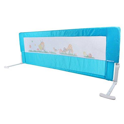 Safety 1st Bettschutzgitter, Fallschutz Bed-Rail beim Schlafen Klappbar passend für Kinder-Eltern-Betten 150x64CM Blau
