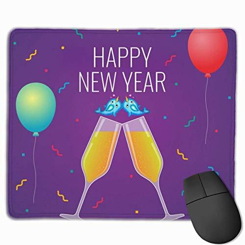 Mausmatte,Spiel Maus Pad,Mausunterlage,Gaming Mauspad,Frohes Neues Jahr Luxus Feier Toast Matte Mäuse Mousepad Für Office Home Laptop Computer Pc