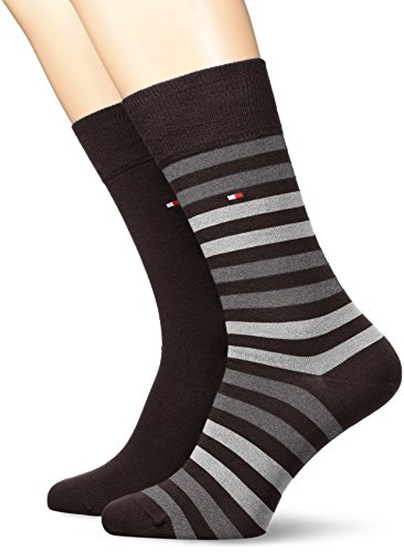 Tommy Hilfiger Herren TH Men Duo Stripe 2P Socken, Schwarz (Black 200), 39/42 (2er Pack)