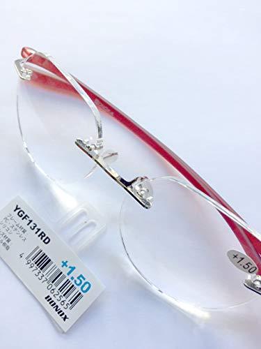 YGF131 老眼鏡 福祉 介護 ルーペ Reading Glasses シニアグラス ダルトン BONOX 男女兼用 敬老の日 プレゼント 母の日 (RED, 1.0)