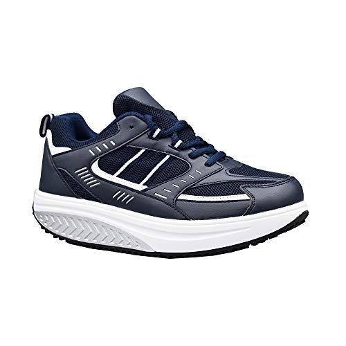 Ettes - Zapatillas de adelgazamiento para hombre - Modelo Toronto - Material piel sintética - Para caminar cómodamente Azul Size: 43 EU