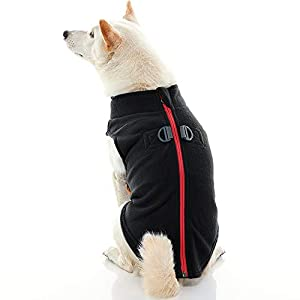 Gooby Zip Up Fleece Dog Vest – Step-in Dog Jacket with Zipper Closure and Leash Ring – Winter Small Dog Sweater – Warm Dog Clothes for Small Dogs Girl or Boy for Indoor and Outdoor Use