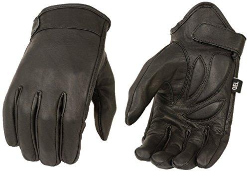 Milwaukee Leather MG7510 Men's 'Gel Palm' Black Short Wrist Leather Gloves - X-Large