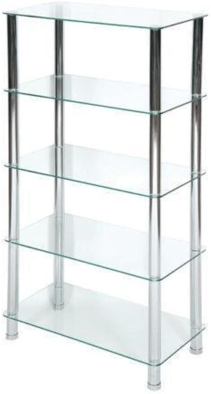 Ih casadecor NOV-1400-5 Rendi 5 Tier Frosted Glass Stand