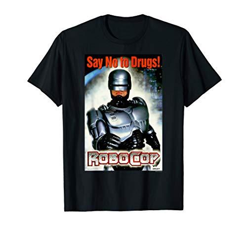 Licensed RoboCop Say No To Drugs Propaganda Logo Poster T-Shirt, 6 Colors for Men, Women