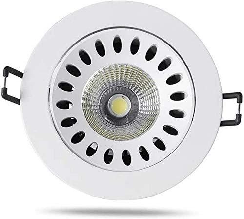 IUHUA 9W LED Einbau Downlight COB Spotlight Weiß Ausschnitt 100 mm mit Treiber inklusive Aluminiumgehäuse Brandschutz für Korridor-Vitrine (Farbe: Lumiegrave; Neutre (4000K))
