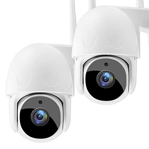 SoulLife Security Camera Outdoor, 1080P HD Home Surveillance WIFI IP Camera Wireless Pan/Tilt Waterproof with Night Vision 2-Way Audio Motion Detection Activity Alert(2 Pack)