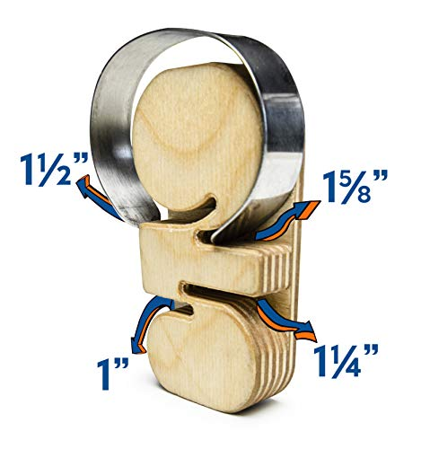 Bastex 4 in 1 Bracelet Bending Jig Tool. Includes Four Different Wrist Sizes. Handmade Wooden Tool for Bending Metal Stamping Blank Bracelets. Will Never Scratch Your Metal