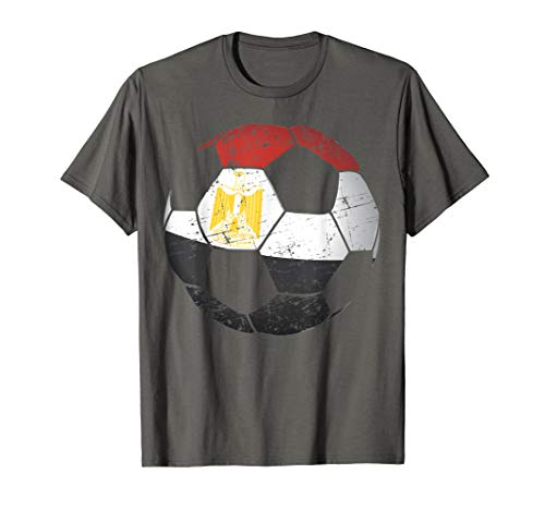 Egypt Soccer Ball Flag Jersey Shirt - Egyptian Football Gift
