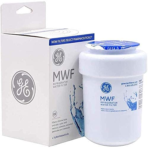 MWF filter Compatible with GE MWF refrigerator water filter replacement,1 pack of MWF replaces GWF, GWFA, GWF01, GWF06, MWFA,extremely efficient in eliminating most CONTAMINANTS