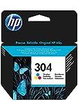 HP N9K05AE 304 Original Ink Cartridge, Tri-Colour, Single Pack