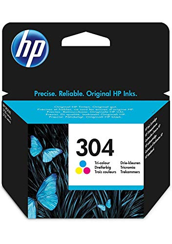 HP N9K05AE 304 Original Ink Cartridge, Tri-Colour, Single Pack