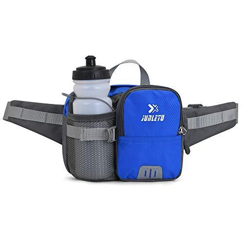 Sroben Running Fanny Pack, Hiking Waist Belt For 9' Phone/Ipad, With 30oz Water Bottle Holder And Reflective Strip, Waterproof Men Women Sport Pouch Packs Bag For Hiking, Running, Dog Walking